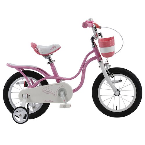 5. RoyalBaby 2017 newly-developed Little Swan Girl's Bike with basket, 14, 16 or 18 inch girls bike with training wheels or kickstand, gifts for kids, girls' bicycles
