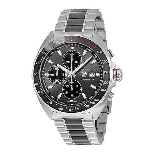 1. TAG Heuer Men's 'Formula 1' Swiss Automatic Stainless Steel Dress Watch, Color:Silver-Toned (Model: CAZ2012.BA0970)