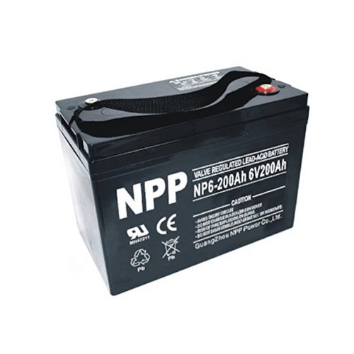 3. NPP 6V 200 Amp NP6 200Ah AGM Deep Cycle Camper Golf Cart RV Boat Solar Wind Battery