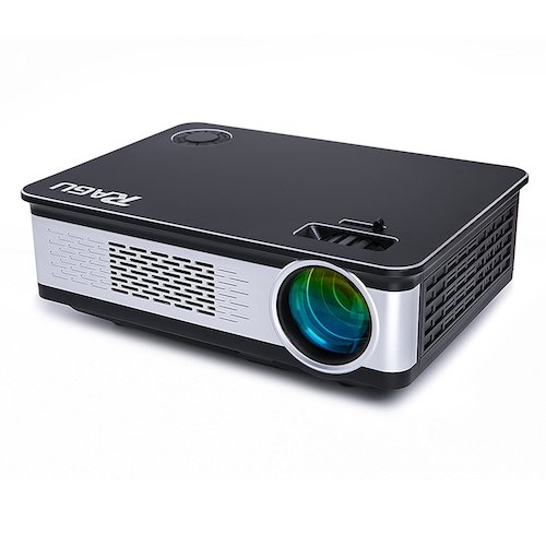"Best Projectors Under 200: Video Projector, RAGU Z720 HD Projectors Portable Movie Projector 3200 Luminous Efficiency 1280x720 5.8"" LCD Home Theater with HDMI Support 1080P VGA USB SD AV TV Laptop for Entertainment Game Party"