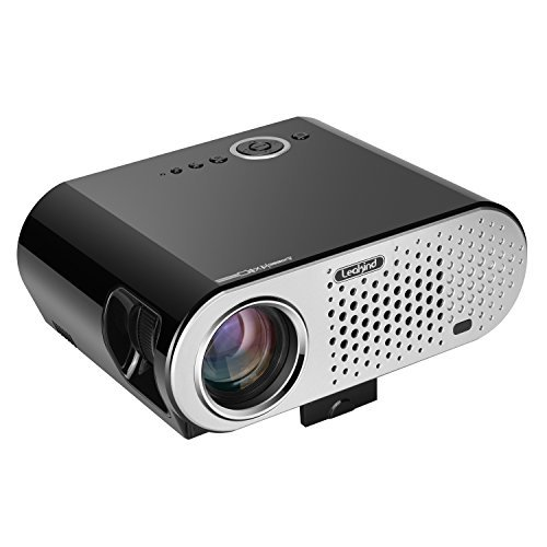 Best Projectors Under 200: 1. Video Projector 3200 Luminous Efficiency Leakind HD Outdoor Projector Support 1080P Home Theater Cinema Movie Party Game Projector HDMI VGA for Laptop iPhone Smartphone Xbox PS3 PS4