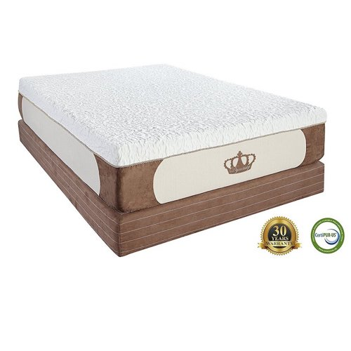 6. DynastyMattress Cool Breeze 12-Inch Gel Memory Foam Mattress, King Size