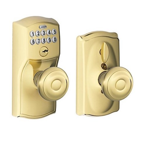 4. Schlage Lock Company, Schlage FE595 CAM GEO Camelot Keypad Entry