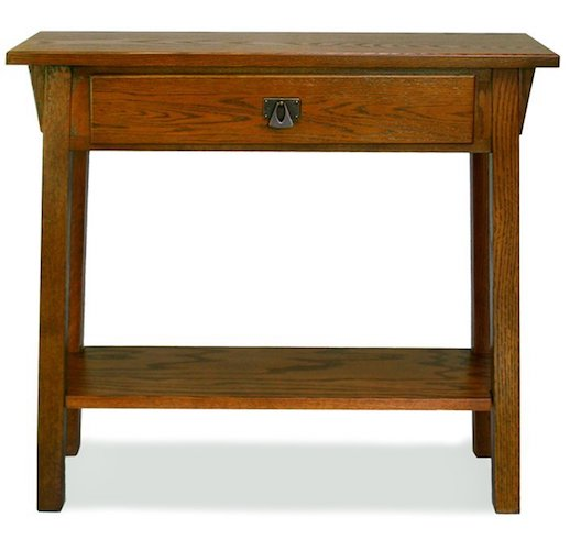 7. Leick Mission Hall Console Table, Russet