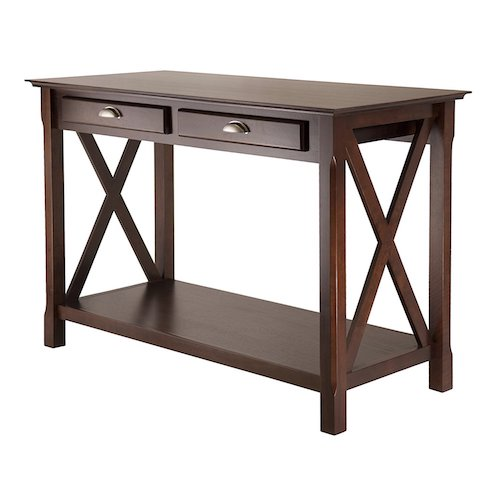 6. Winsome Wood Xola Console Table, Cappuccino Finish
