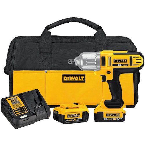 8. DEWALT DCF889M2 20-volt MAX Lithium Ion 1/2-Inch High Torque Impact Wrench with Detent Pin
