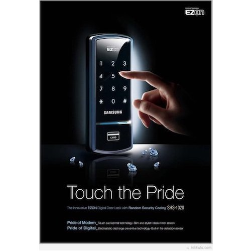 9. Samsung Digital Door LockSHS-1321 security EZON keyless