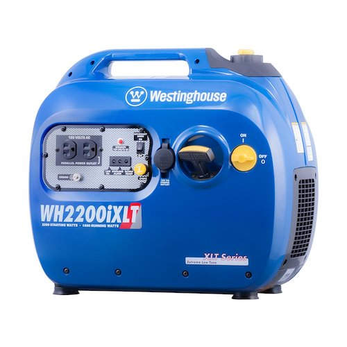 5. Westinghouse WH2200iXLT Portable Inverter Generator - 1800 Running Watts and 2200 Starting Watts - Gas Powered - CARB Compliant