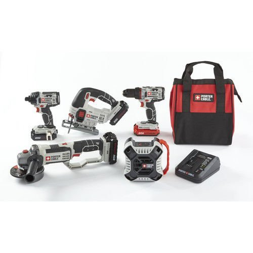 7. Porter-Cable PCCK616L4-CPO 20V MAX 1.5 Ah Cordless Lithium-Ion 5-Tool Combo Kit with 3 Batteries