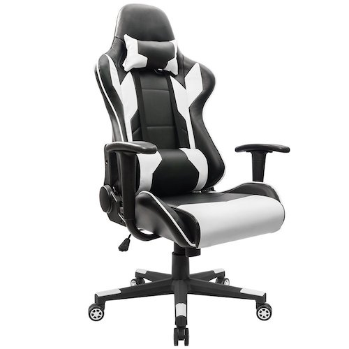1. Homall Executive Swivel Leather Gaming Chair, Racing Style High-back Office Chair With Lumbar Support and Headrest