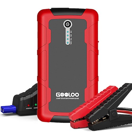 8. GOOLOO 800A Peak 18000mAh SuperSafe Car Jump Starter with USB Quick Charge 3.0 (Up to 7.0L Gas or 5.5L Diesel Engine), 12V Portable Power Pack Auto Battery Booster Phone Charger Built-in LED Light