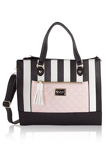 9. Betsey Johnson Bag in Bag Satchel Tote with Pouch