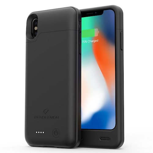 4. iPhone X Battery Case, ZeroLemon iPhone X 4000mAh Slim Juicer Extended Battery Case Rechargeable Charging Case for iPhone X [Apple Certified Connector]-Black
