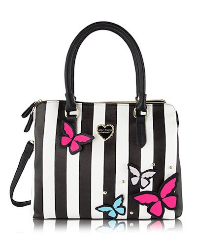4. Betsey Johnson Be Mine Multi Compartment Tote Shoulder Bag