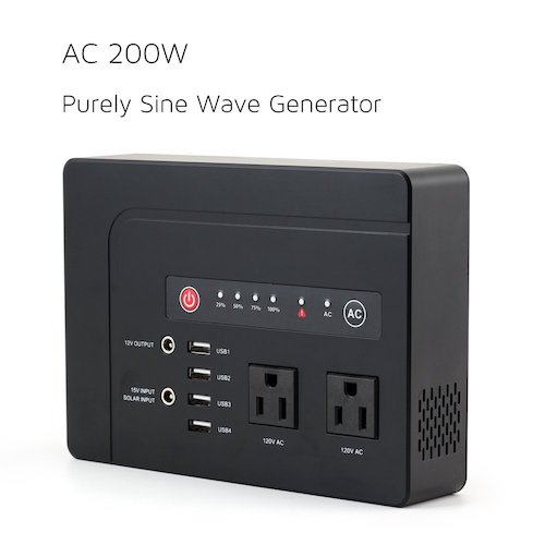 4. WEIYI 200-Watt Purely Sine Wave Portable Generator