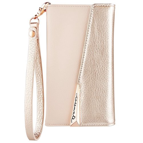 10. Case-Mate iPhone X Case - WRISTLET FOLIO - Premium Pebbled Leather - Protective Design for Apple iPhone X - Rose Gold
