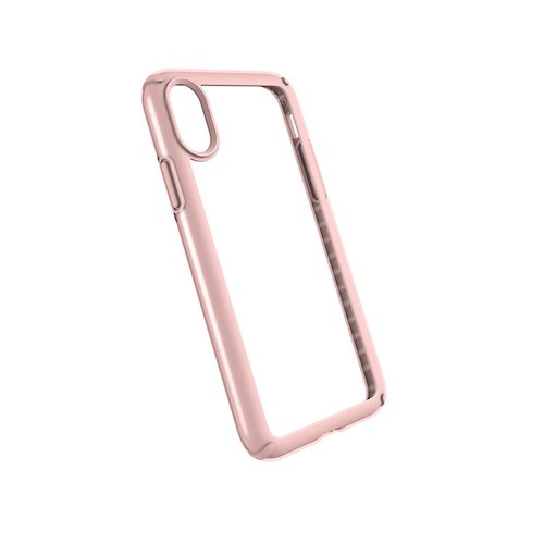 8. Speck Products Presidio Show Case for iPhone X, Clear/Rose Gold
