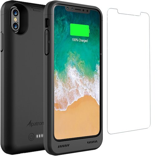 6. iPhone X Battery Case with Qi Wireless Charging, Alpatronix BXX 5.8-inch 4200mAh Slim Rechargeable Extended Protective Portable Backup Charger Case for iPhone X [Apple Certified Chip; iOS 11+] – Black
