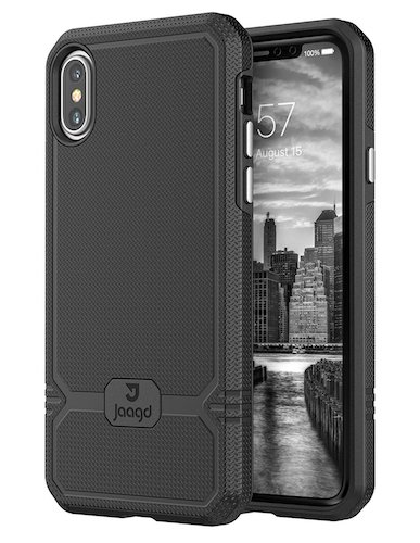 1. Jaagd iPhone X Case, Slim Shock-absorbing Modern Slim Non-slip Grip Cell Phone Cases for Apple iPhone X (Black)