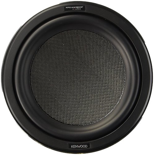 3. Kenwood Excelon KFC-XW1200F 12 1400 Watt Shallow Mount Car Subwoofer