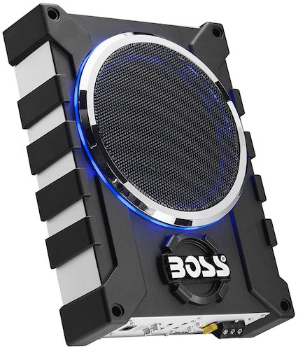 10. BOSS Audio BASS1000 1000 Watt Low Profile Amplified 8 Inch Subwoofer