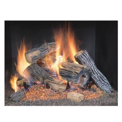 1. SureHeat BRO24NG Oak Realistic Vented Gas Log Set