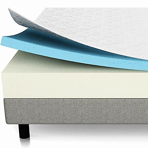 5. LUCID 10 Inch Gel Memory Foam Mattress - Dual-Layered