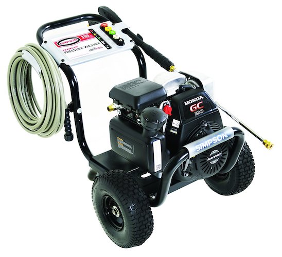 1. SIMPSON Cleaning MSH3125 MegaShot Gas Pressure Washer Powered by Honda GC190, 3200 PSI at 2.5 GPM