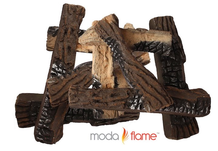 10. Moda Flame 10 PieceRealistic Vented Gas Log Set