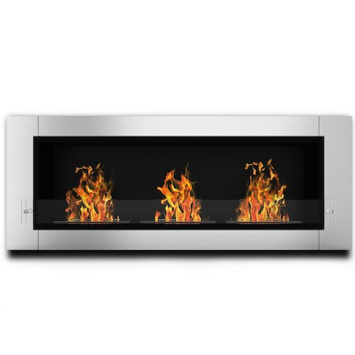 2. Elite Flame Lenox Ventless Bio Ethanol Recessed or Wall Mounted Fireplace