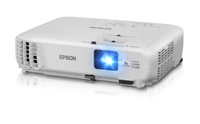 2. Epson Home Cinema 1040 1080p 2x HDMI (1MHL), 3LCD, 3000 Lumens Color and White Brightness Home Theater Projector
