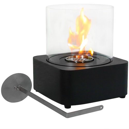 3. Sunnydaze Cilindro Ventless Bio Ethanol Tabletop Fireplace