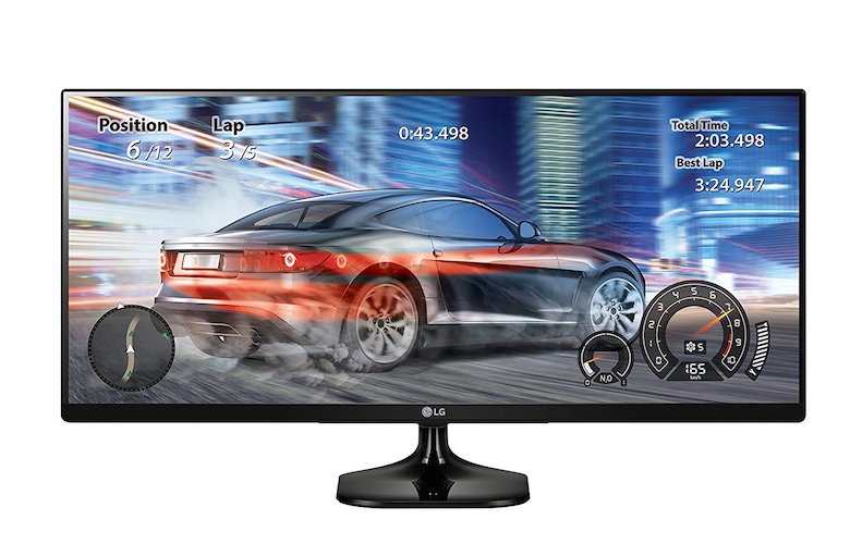 8. LG 25UM58-P 25-Inch UltraWide IPS Monitor with Screen Split