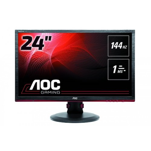 5. AOC G2460PF 24-Inch Professional Gaming LED Monitor Free Sync,144hz,1ms, Hght Adjust, Spk, VGA DVI HDMI DP USB