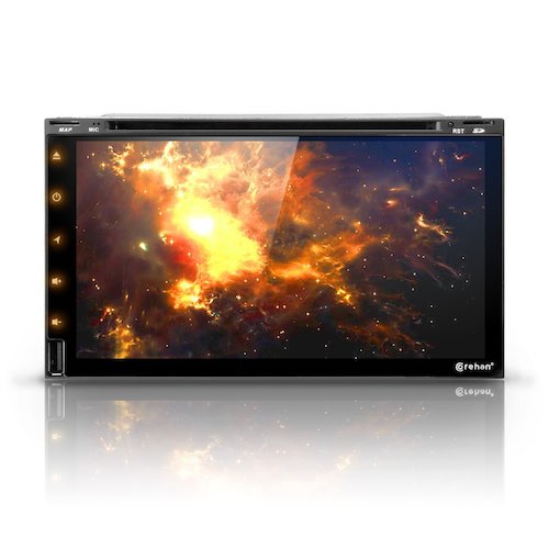 "10. Android 7 Car Stereo CD DVD Player - Corehan 6.95""-inch Double Din In-Dash Car Radio Video Multimedia Player Navigator"