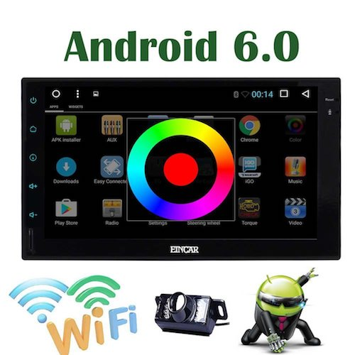 9. EinCar Android 6.0 Quad Core 7 Inch HD Touch Screen Car Stereo