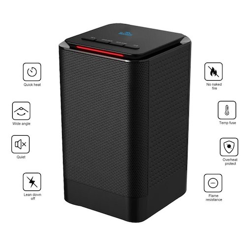 7. Portable Space Heater Madoats Personal Electric Heaters Small Desktop Ceramic Heater with Thermostat, Tilt OFF Protection, Over-Heat Protection