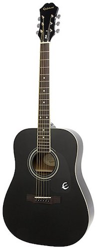 6. Epiphone DR-100 Acoustic Guitar, Ebony