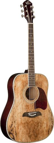 4. Oscar Schmidt OG2SM Acoustic Guitar - Spalted Maple