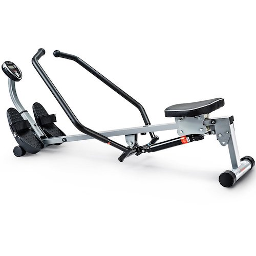 6. Sunny Health & Fitness SF-RW1410 Rowing Machine Rower with Full Motion Arms and LCD Monitor