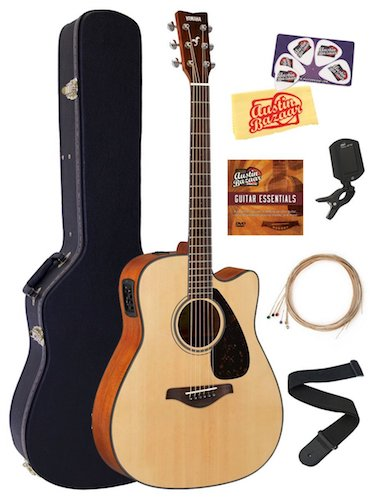 7. Yamaha FGX800C Solid Top Folk Acoustic-Electric Guitar