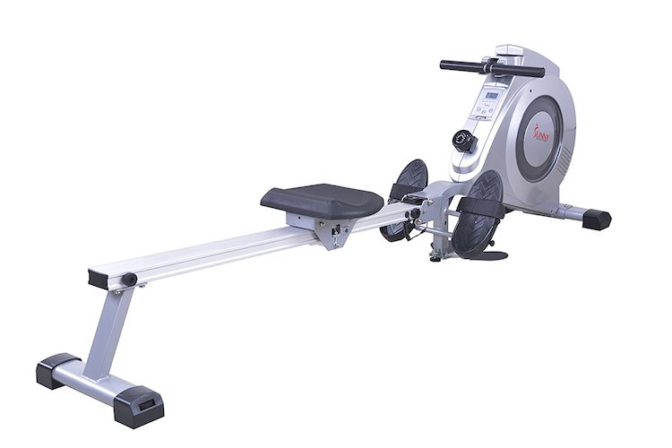 9. Sunny Health & Fitness SF-RW5612 Dual Function Rowing Machine Rower w/ LCD Monitor