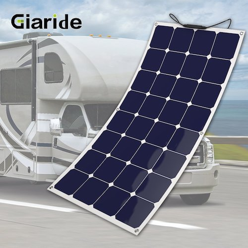 6. GIARIDE 100W 18V 12V Solar Panel Sunpower Flexible Bendable
