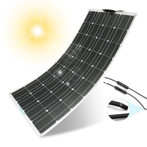 4. Solar Panel Charger, MOHOO 100W 18V 12V Ultra-Thin Flexible Lightweight Cells Solar