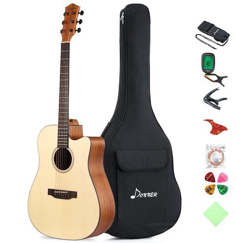 9. Donner DAG-1C Beginner Acoustic Guitar Full Size
