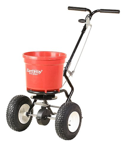 3. Earthway 2150 Commercial 50-Pound Walk-Behind Broadcast Spreader