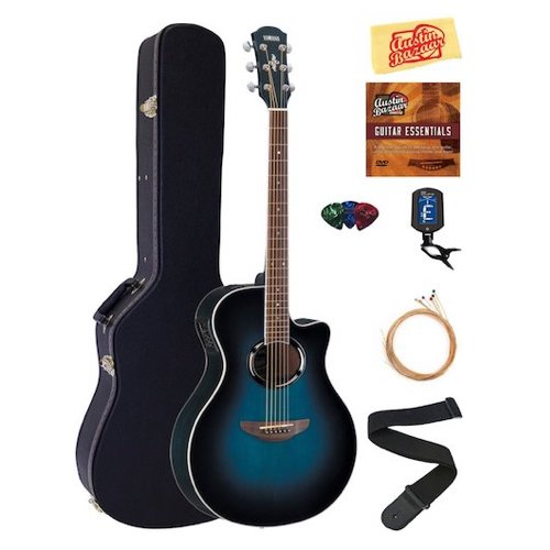 5. Yamaha APX500III Thinline Cutaway Acoustic-Electric Guitar Bundle