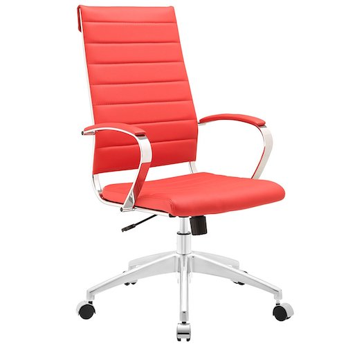 4. Modway Jive Ribbed High Back Tall Executive Swivel Office Chair