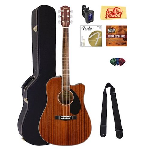 3. Fender CD-60SCE Dreadnought Acoustic-Electric Guitar