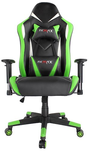 7. Ficmax Large Size Swivel Gaming Chair Ergonomic Racing Style PU Leather Office Chair